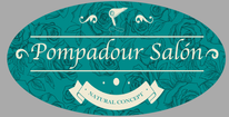 Pompadour Salon Natural Concept Logo